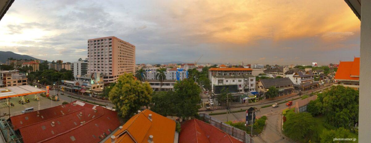 タイ チェンマイ アパート 部屋からの景色