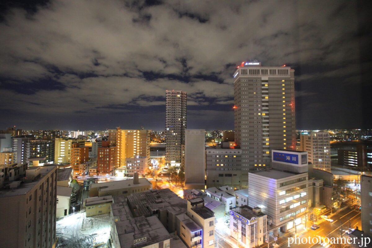 ホテルJALシティ中島公園 景色 夜景