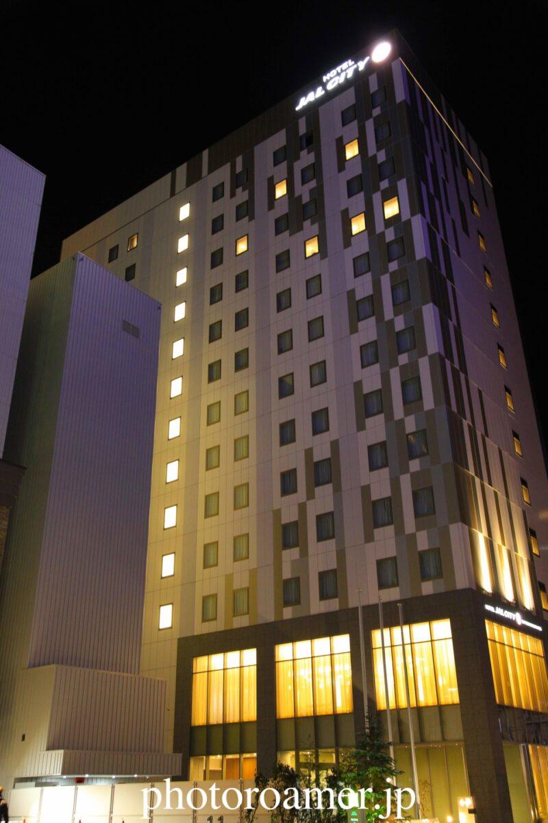 ホテルJALシティ札幌中島公園 外観 夜間