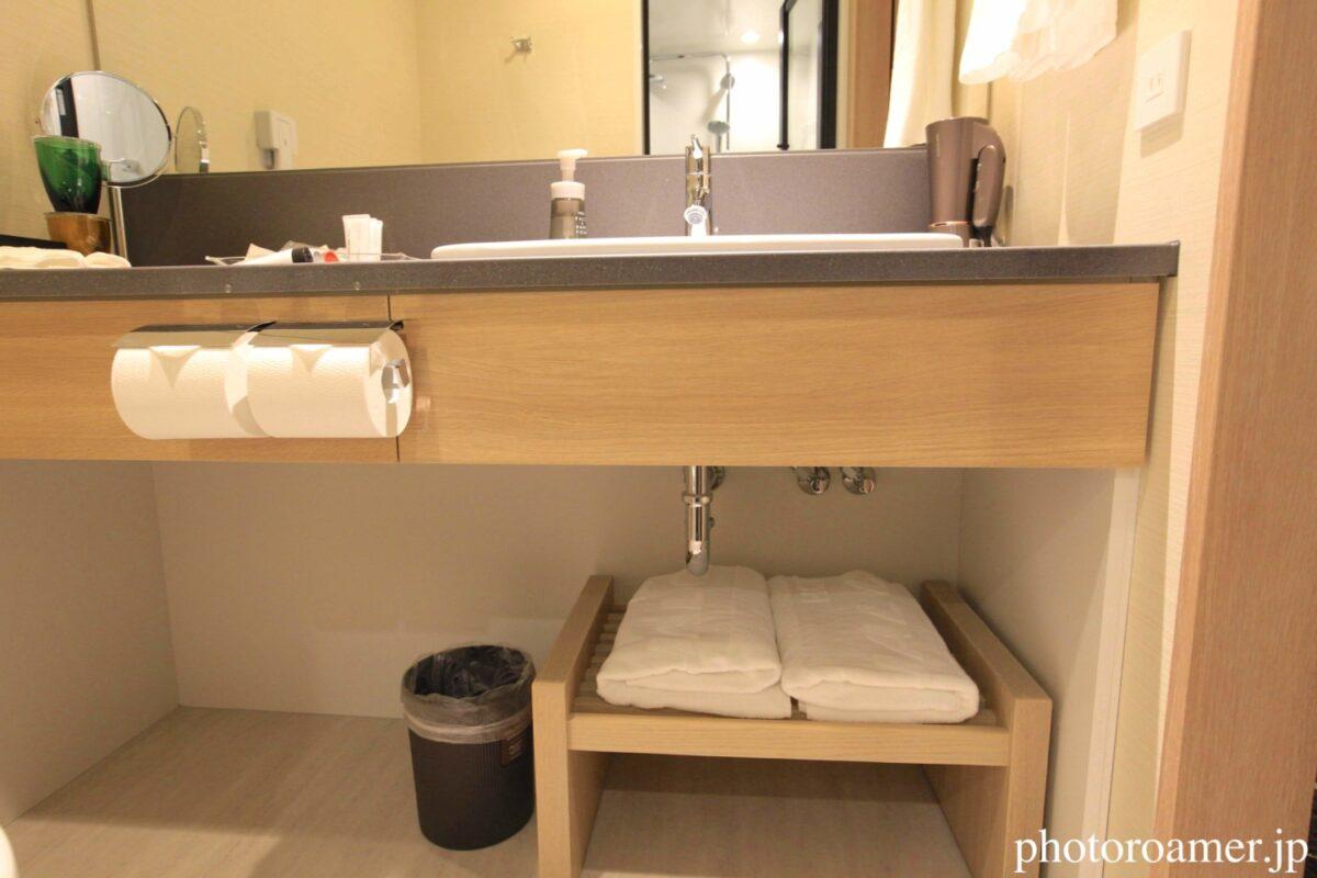 ホテルJALシティ札幌中島公園 洗面所 タオル