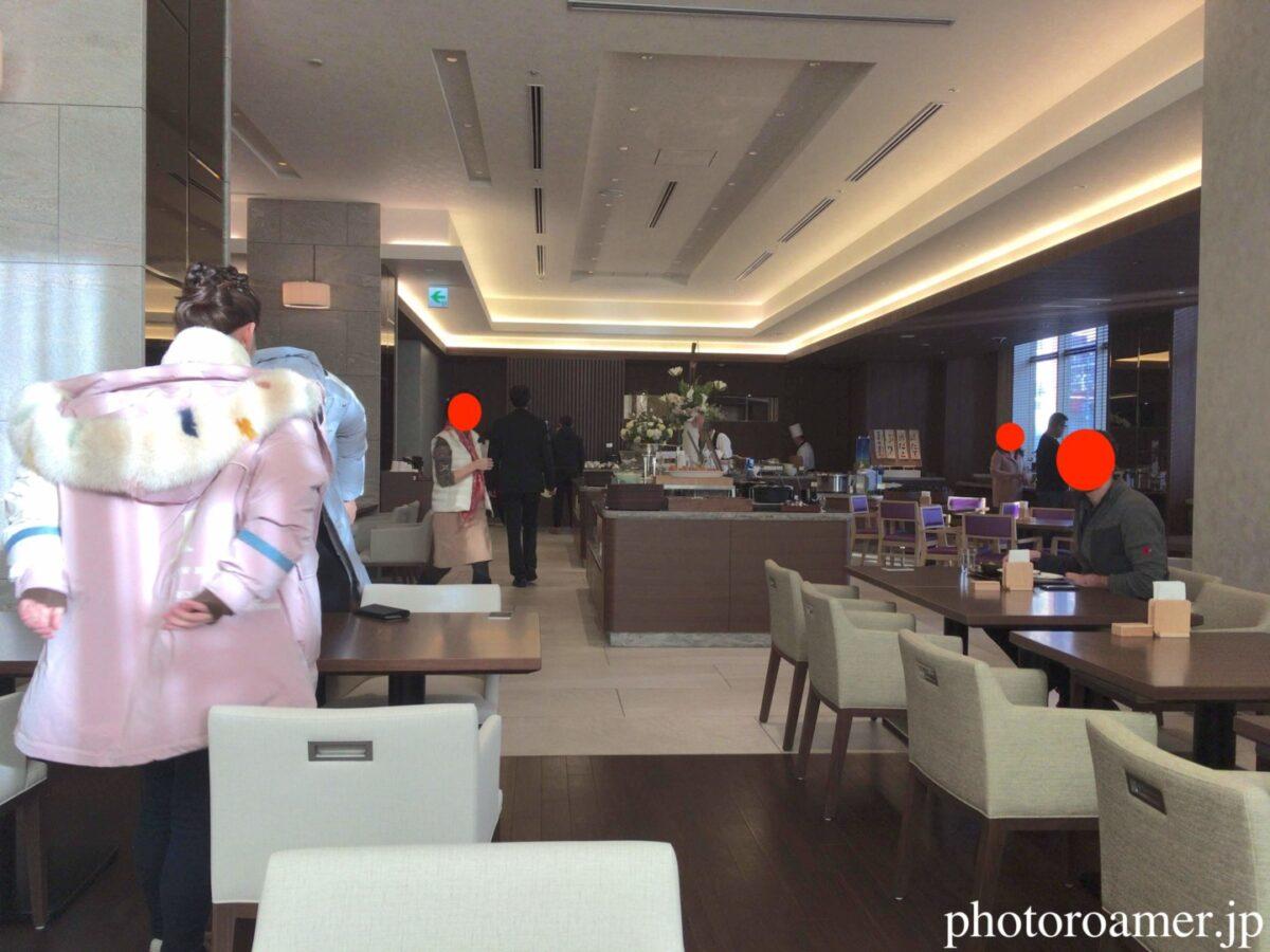 ホテルJALシティ中島公園 朝食 Cafe Contrail(カフェ コントレイル) 着席