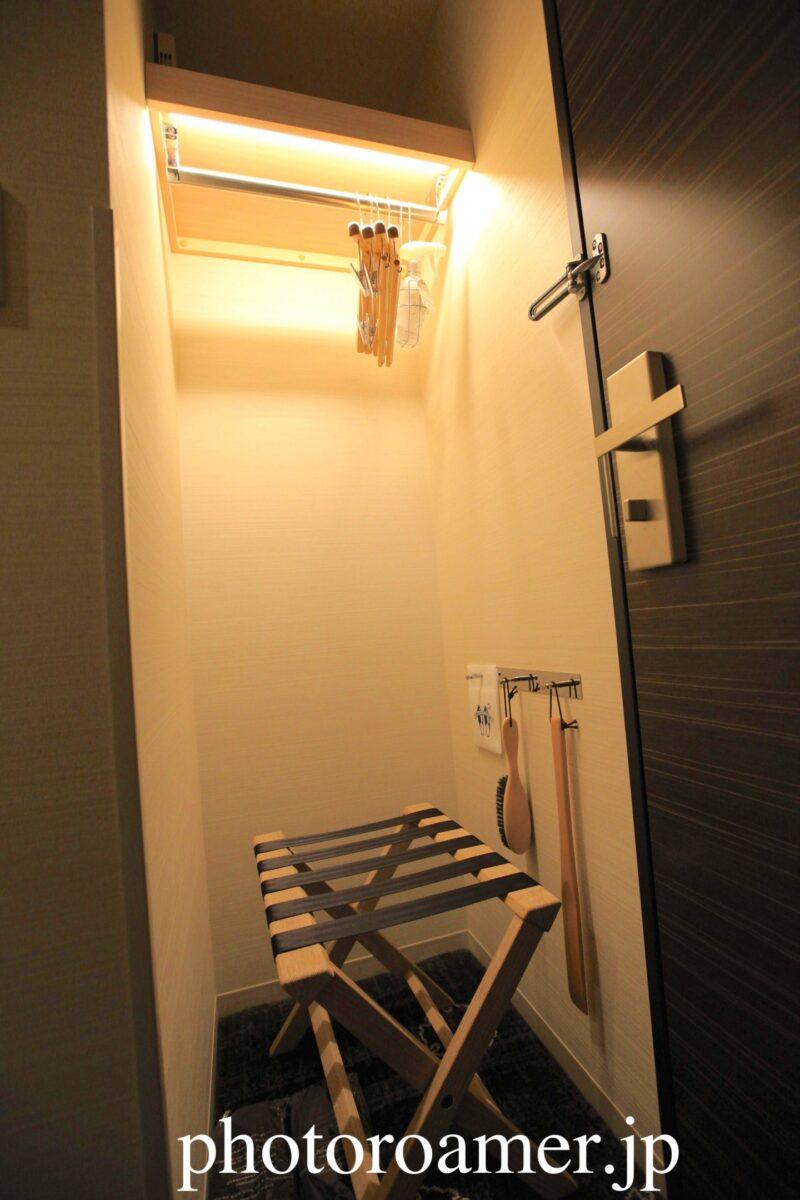 ホテルJALシティ札幌中島公園 部屋 入り口 クローゼット