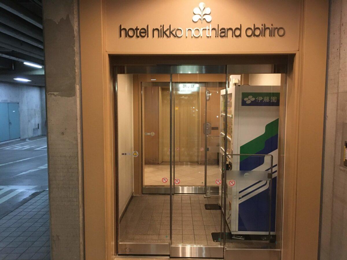 ホテル日航ノースランド帯広 地下駐車場 エレベーター