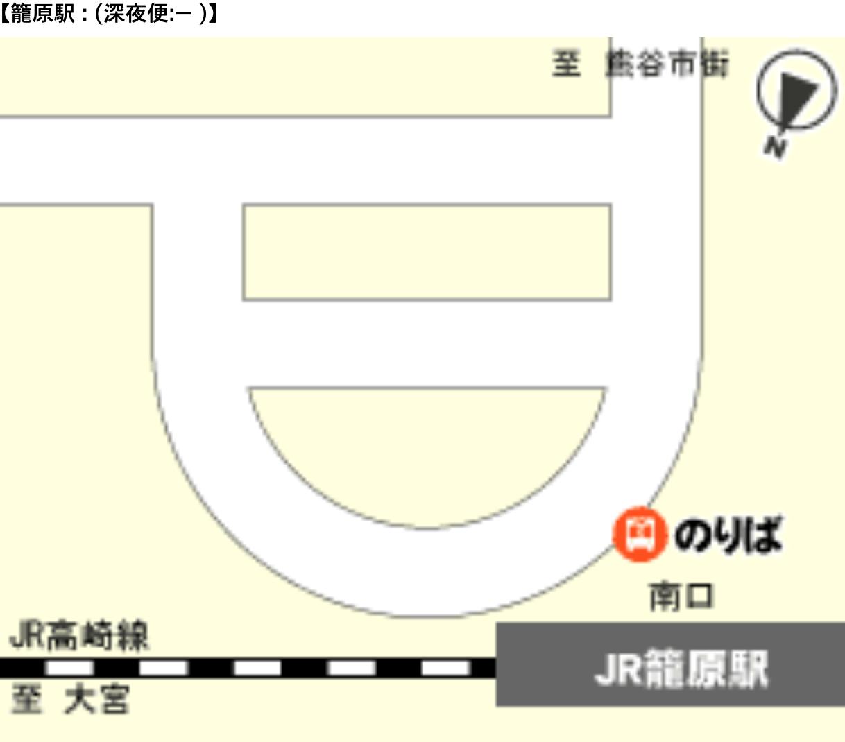 空港バス 籠原駅 案内図