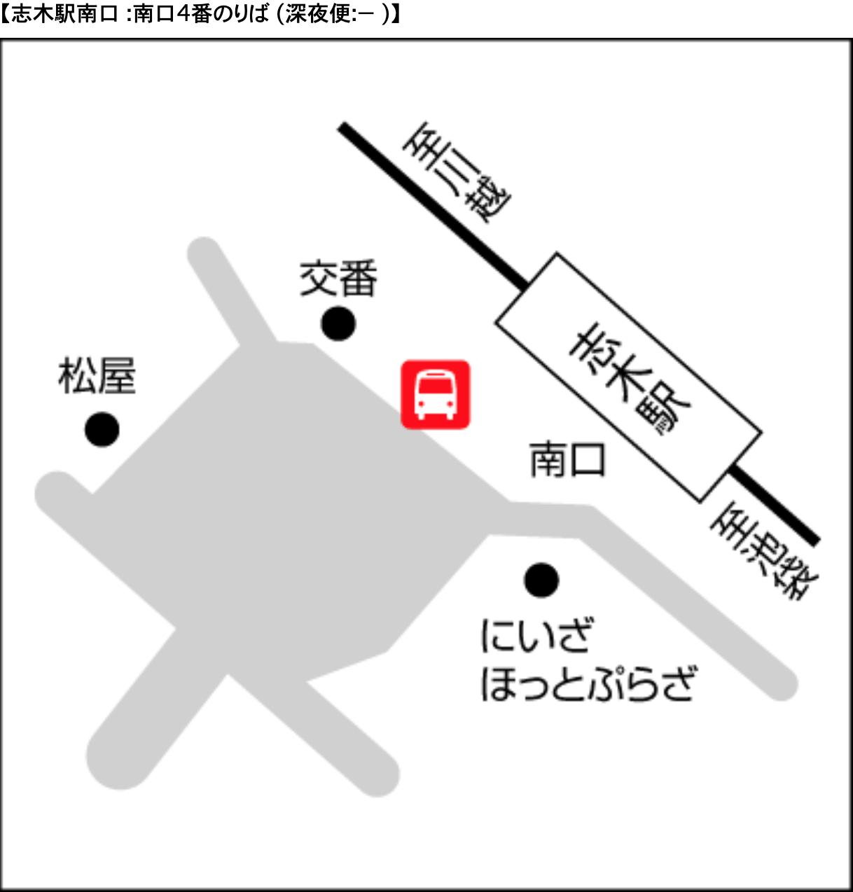 空港バス 志木駅 案内図