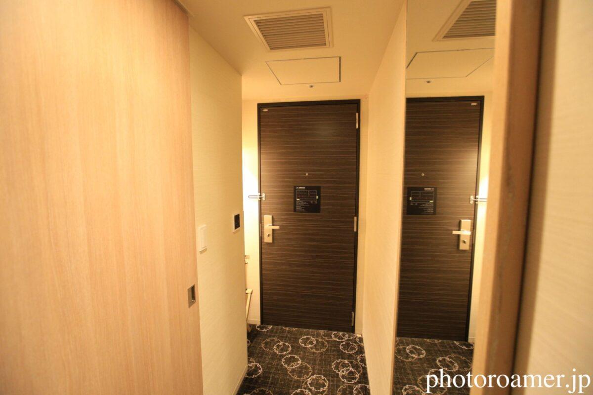 ホテルJALシティ札幌中島公園 部屋 入り口