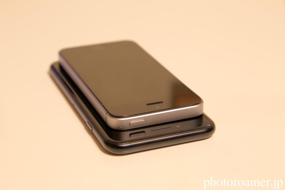iPhoneSE iPhoneSE2 サイズ比較