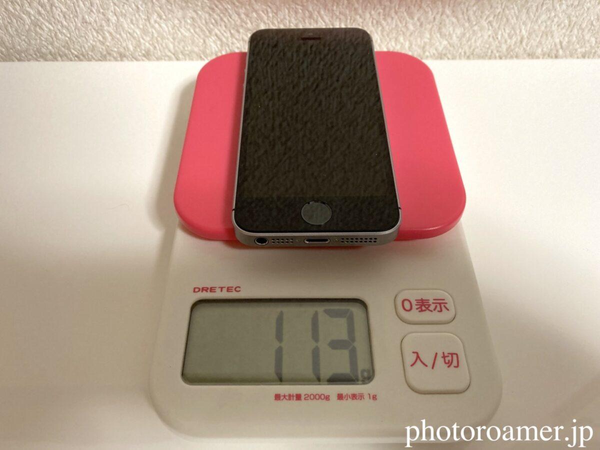 初代iPhoneSE 重さ