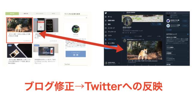 ブログ修正 Twitter反映