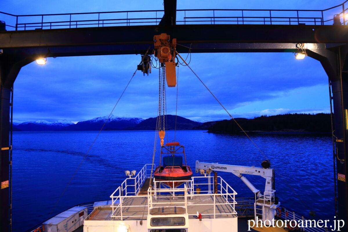 アラスカ フェリー 船尾