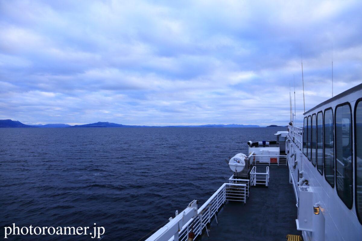 アラスカ フェリー 甲板