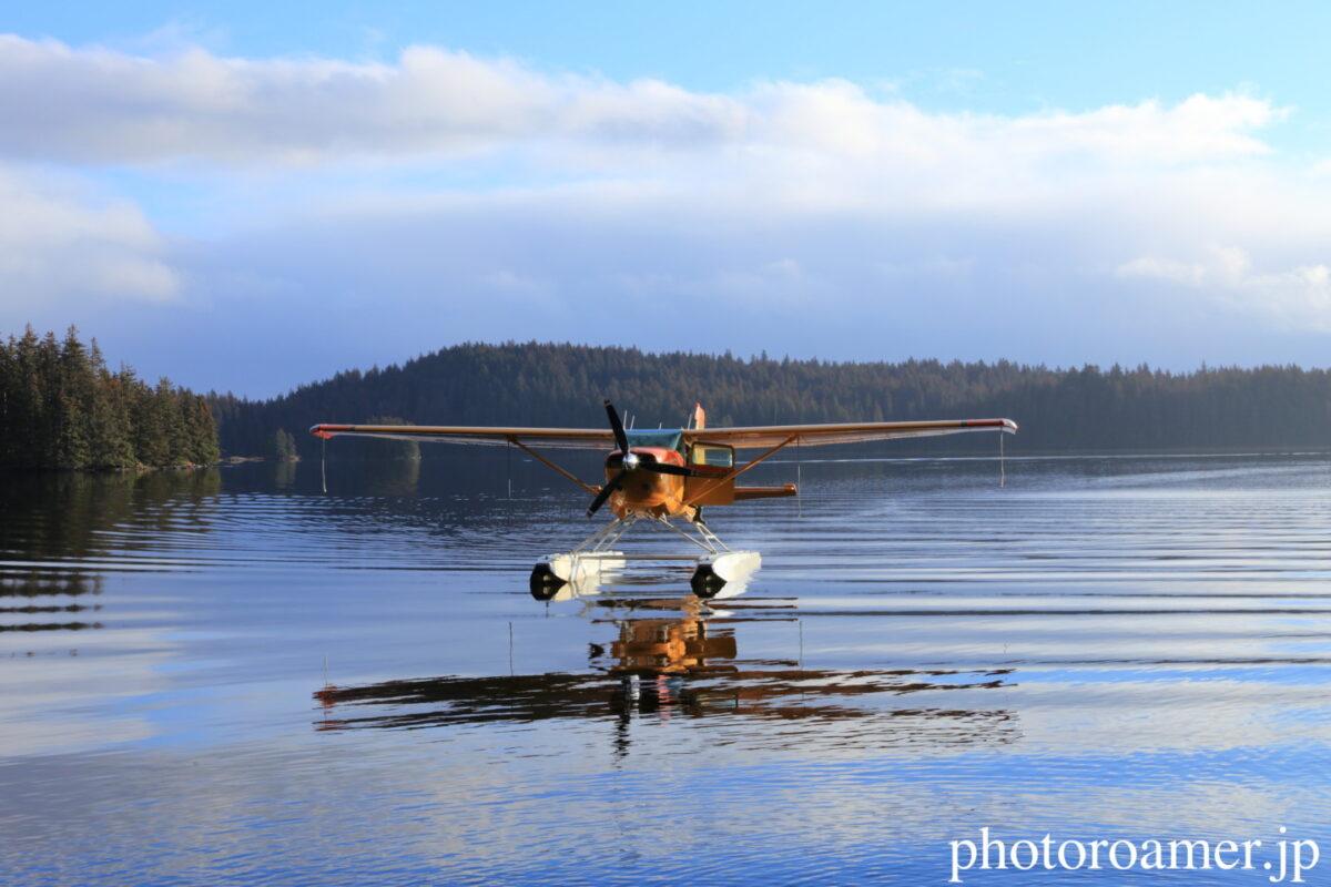 アラスカ 島 湖面 接近