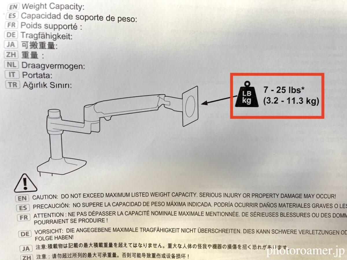 エルゴトロン モニターアーム 耐荷重