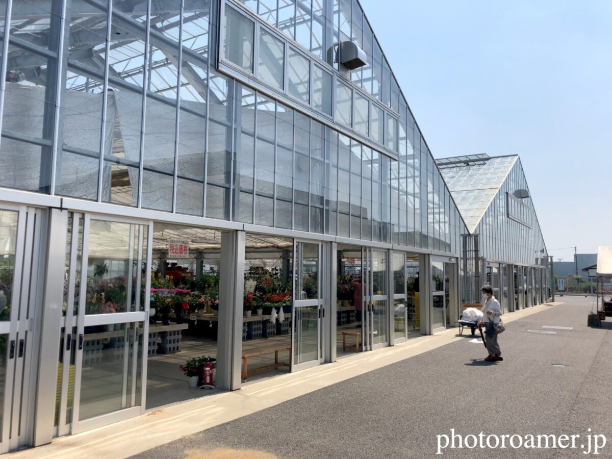 JA花園農産物直売所 ビニールハウス 花