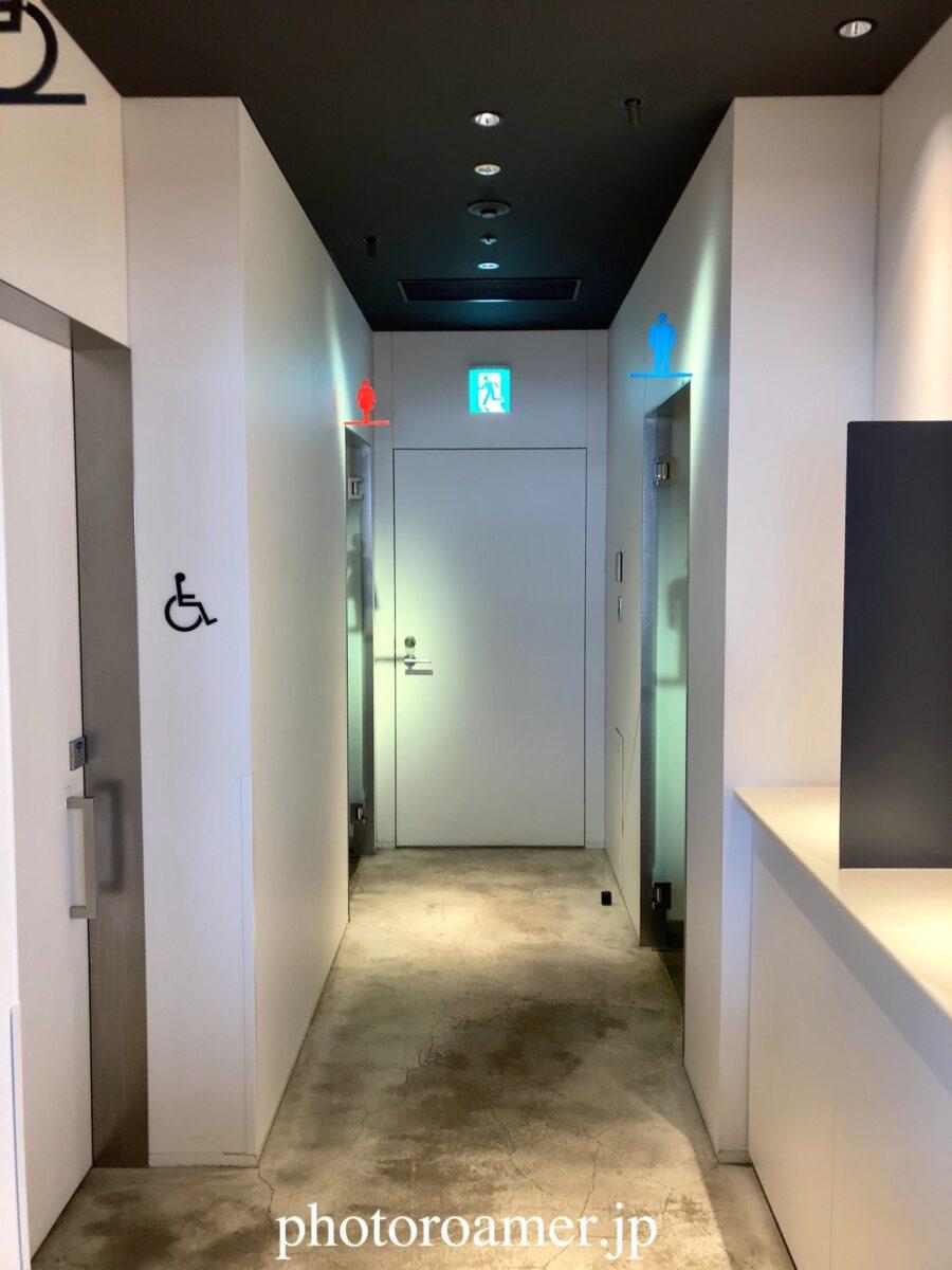 羽田空港 パワーラウンジノース トイレ入り口