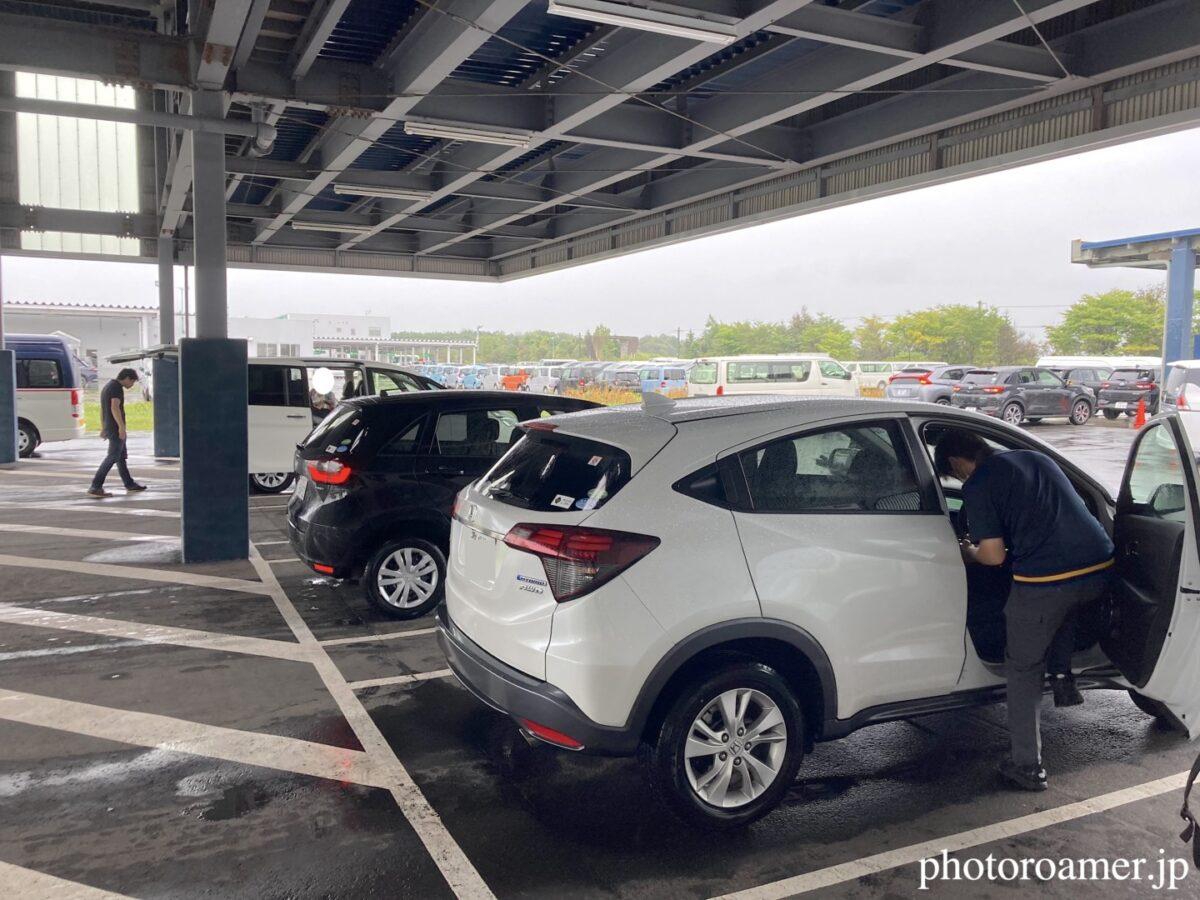 2020北海道旅行 オリックスレンタカー 返却時チェック