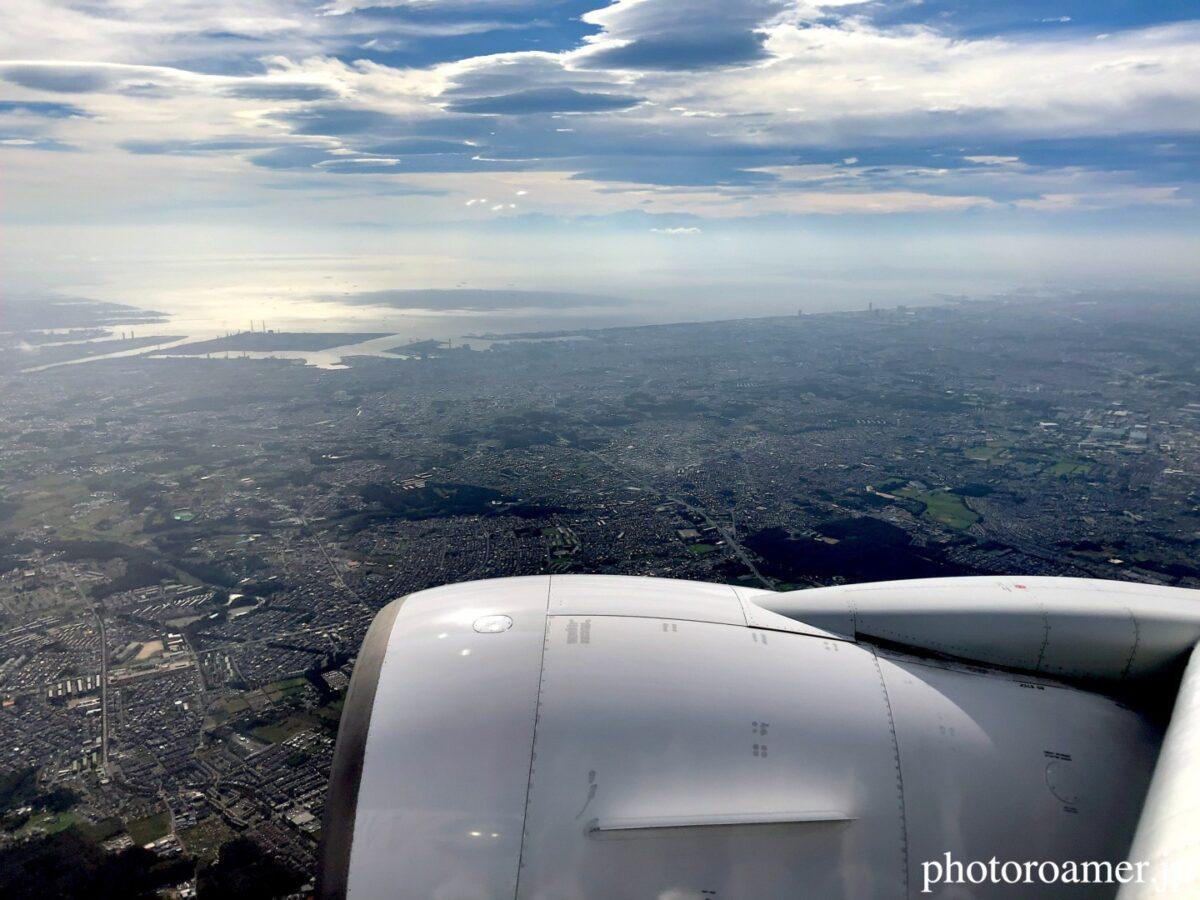 JAL 国内線 WiFi フライトマップ 景色