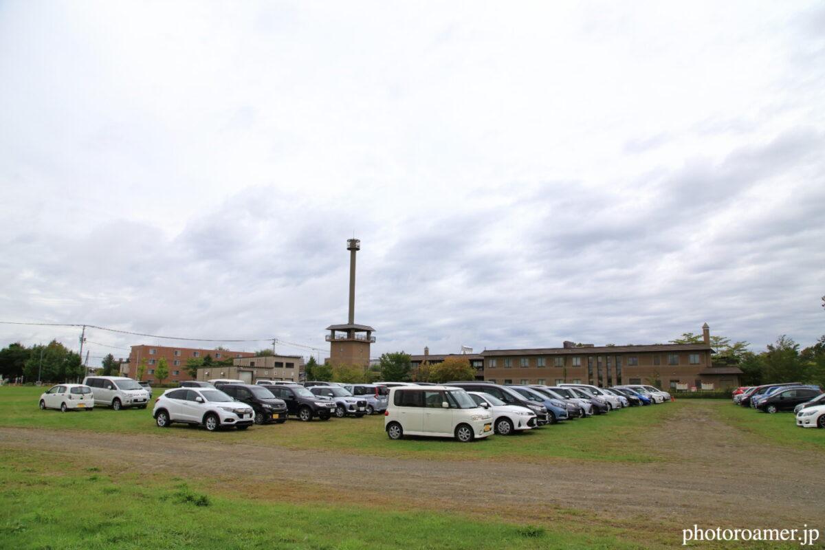 北海道旅行 道の駅 サーモンパーク千歳 臨時駐車場
