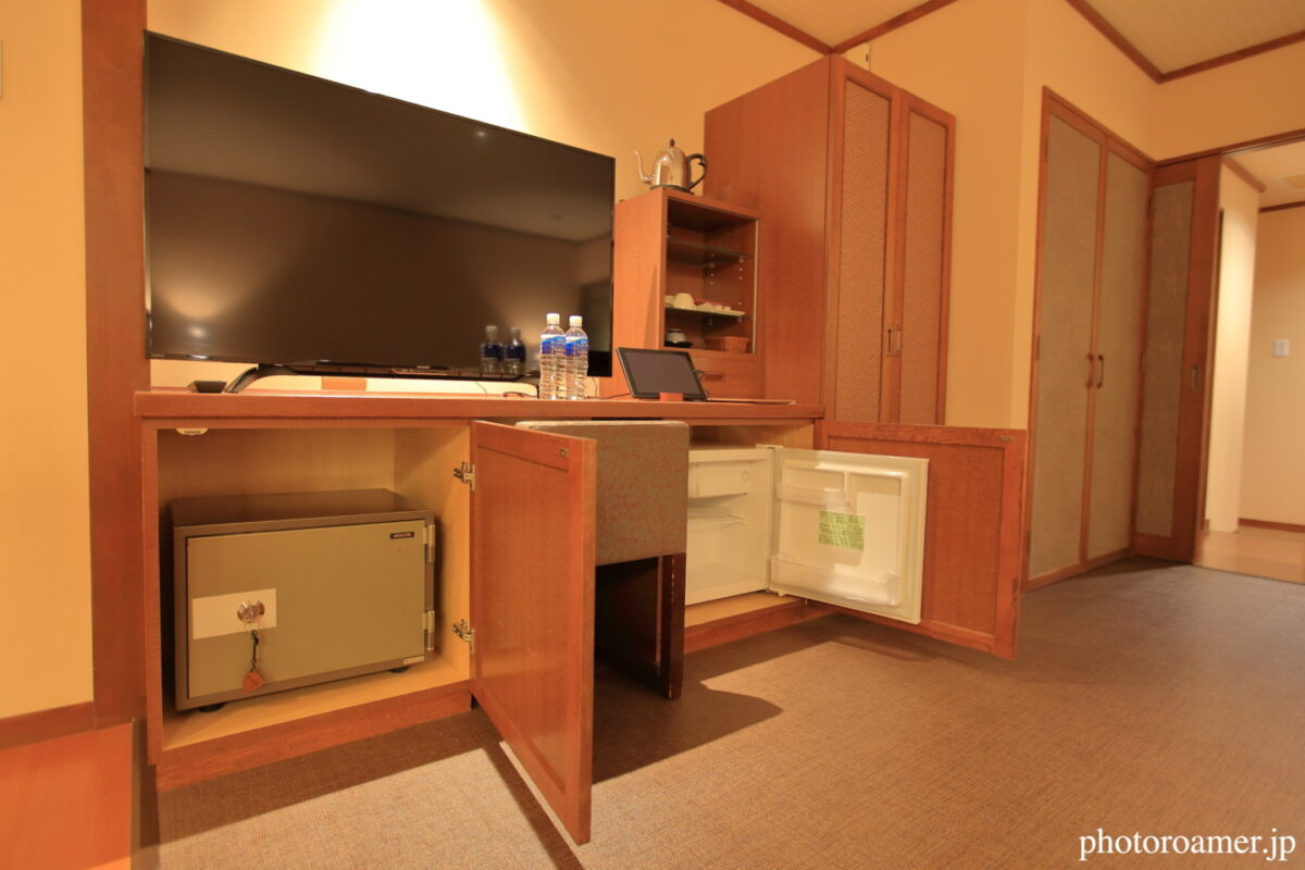 北こぶし知床 ホテル&リゾート 寝室 冷蔵庫 金庫