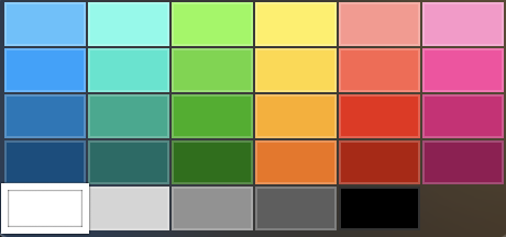 Keynote 文字色 カラーパレット