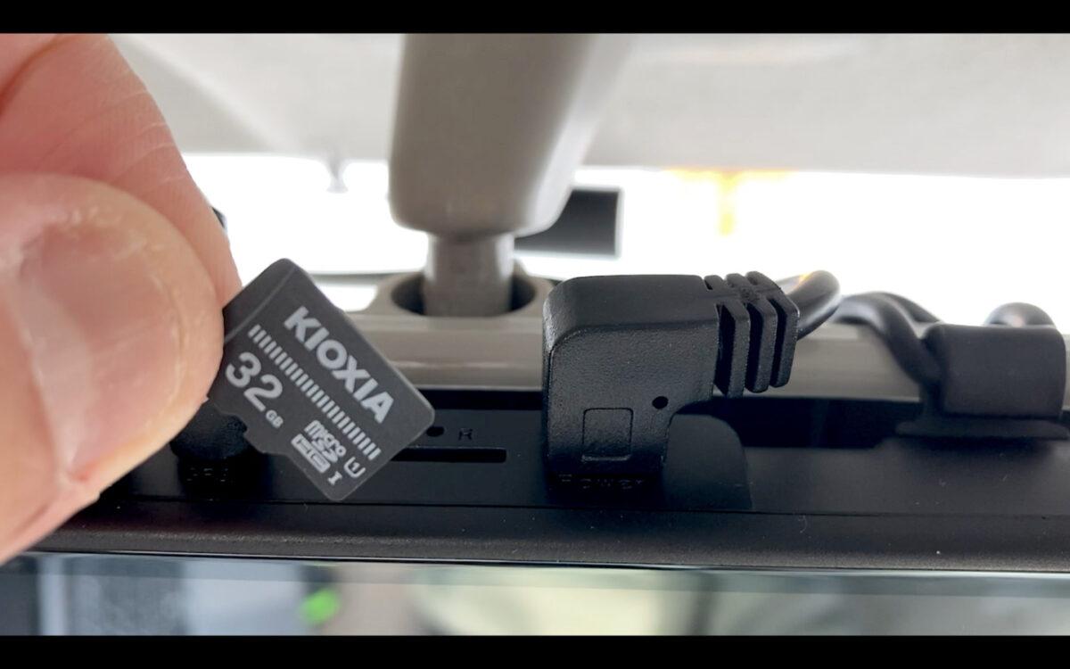 車 グッズ ドラレコ SDカード取り出し