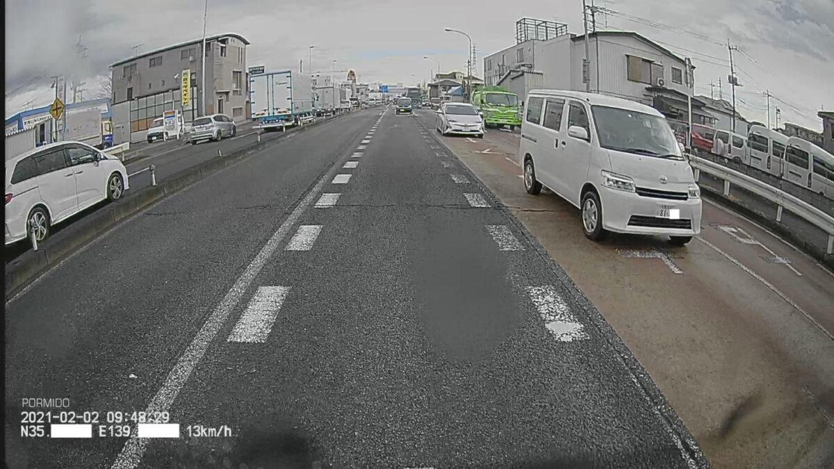 車 グッズ ドラレコ リアカメラ映像 午前