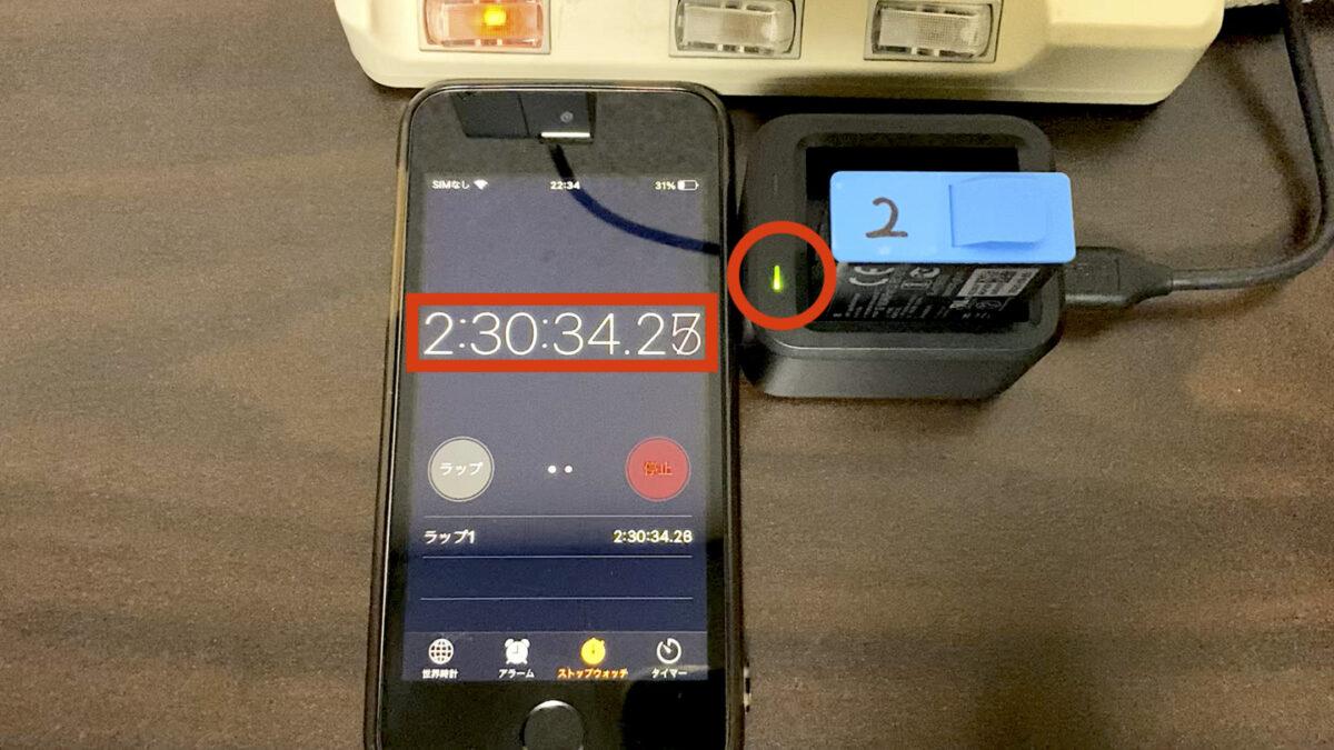 GoPro HERO9 バッテリー2 バッテリーチャージャー 完了後