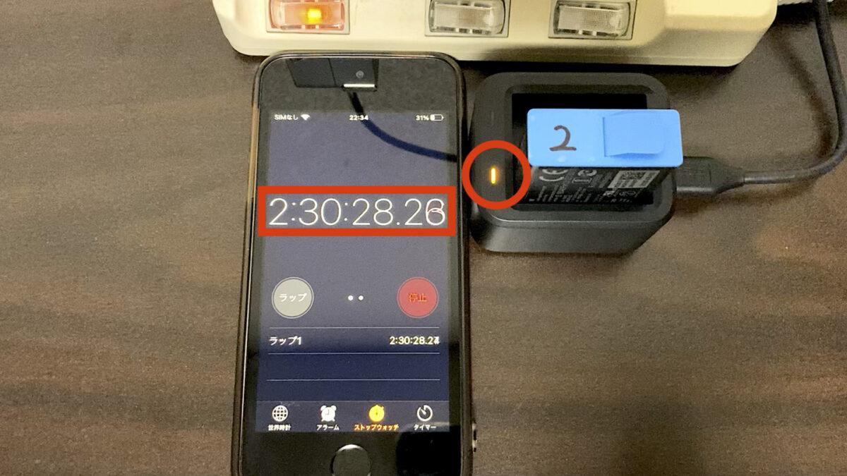GoPro HERO9 バッテリー1 バッテリーチャージャー 完了後