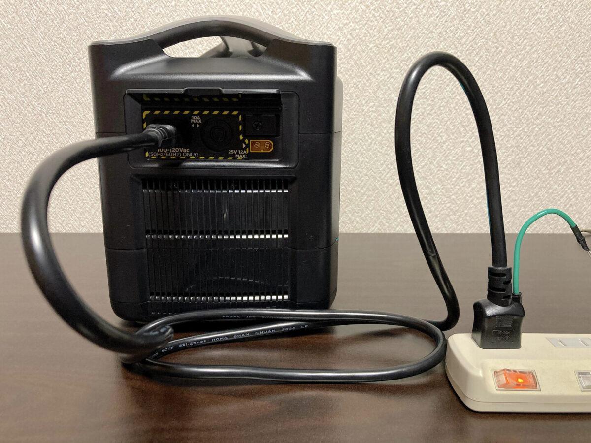 エコフロー RIVER600 電源ケーブル 差込口