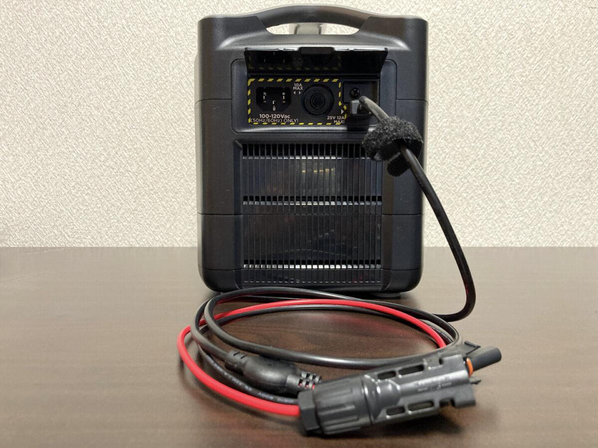 エコフロー RIVER600 ソーラーパネル充電ケーブル 差込口