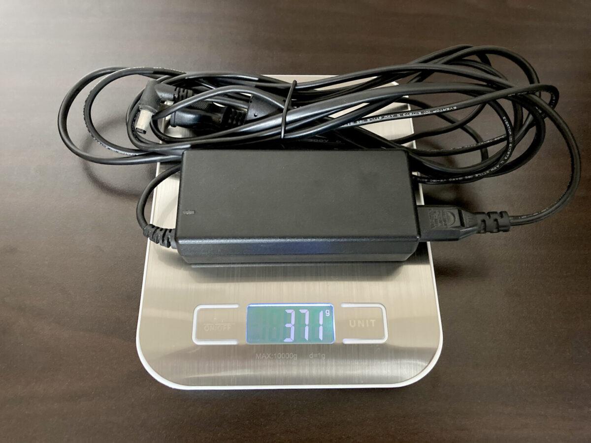 エコフロー RIVER600 AC電源ケーブル PC 重さ