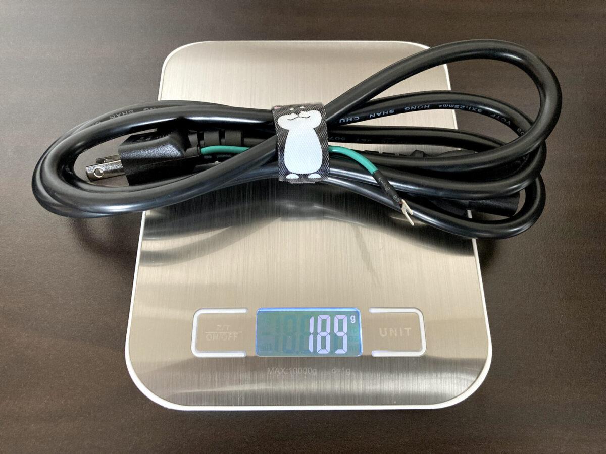 エコフロー RIVER600 AC電源ケーブル 重さ