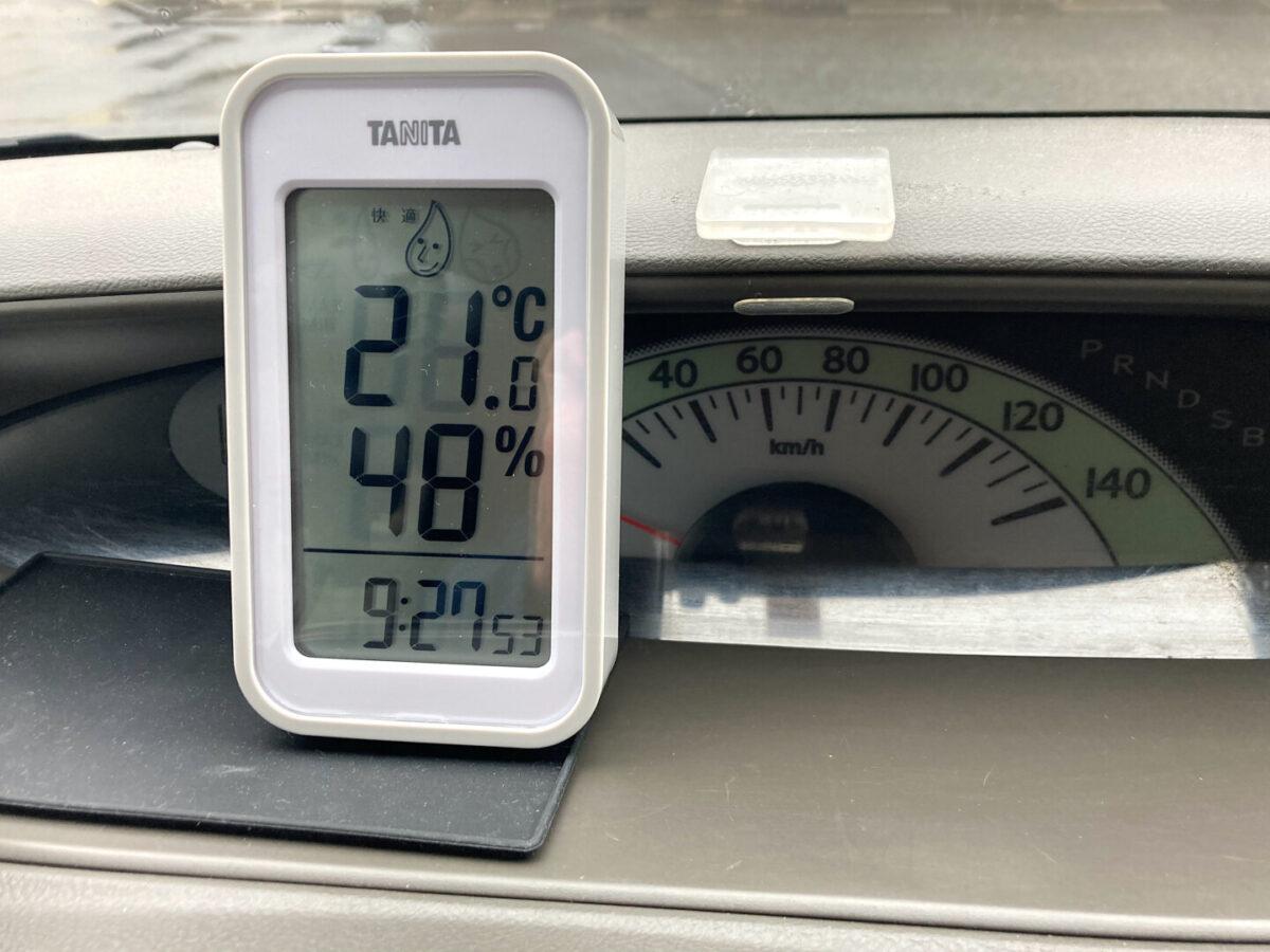 タニタ 温湿度計 車内