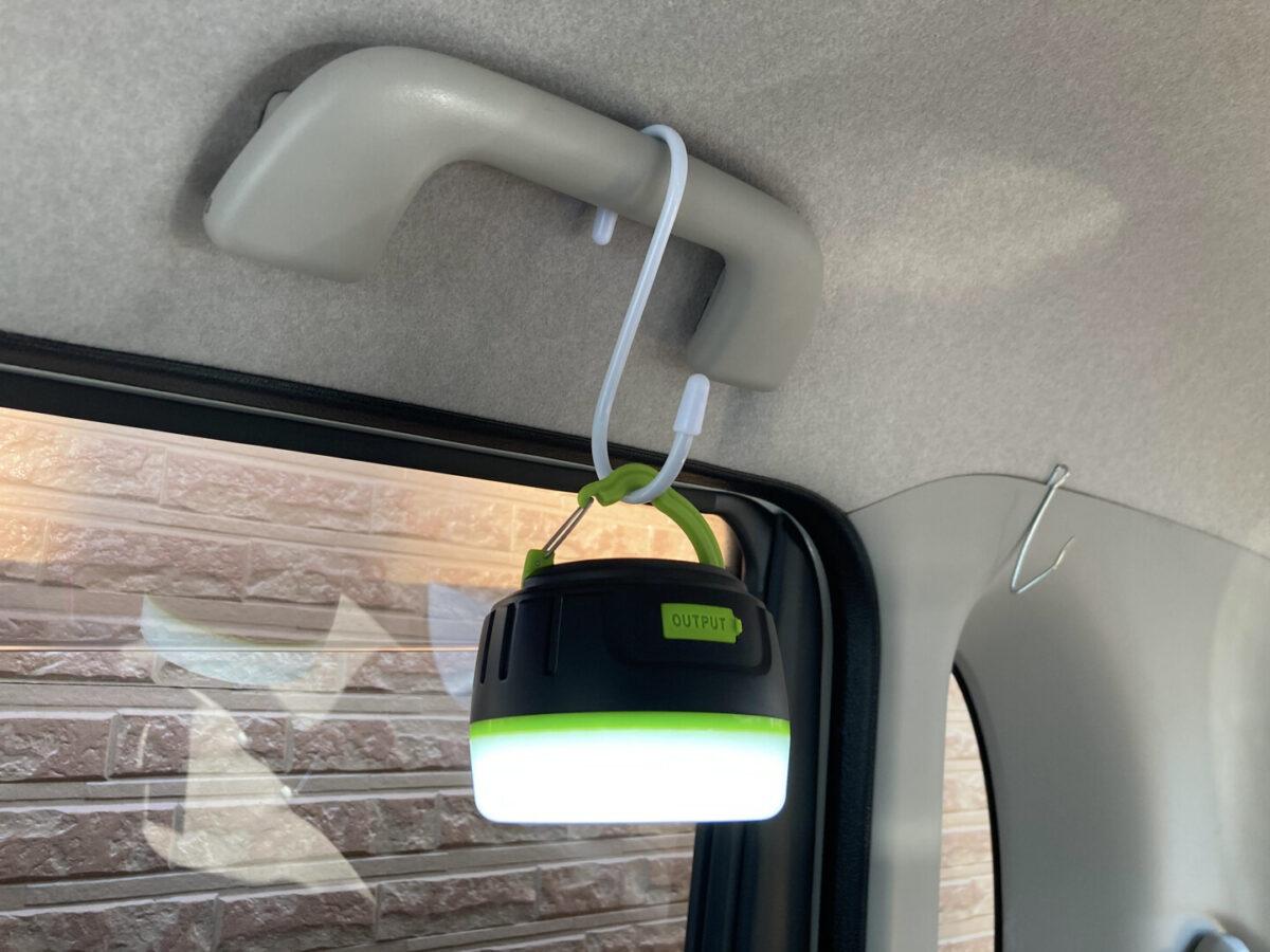 車中泊 LEDライト 車内 フック