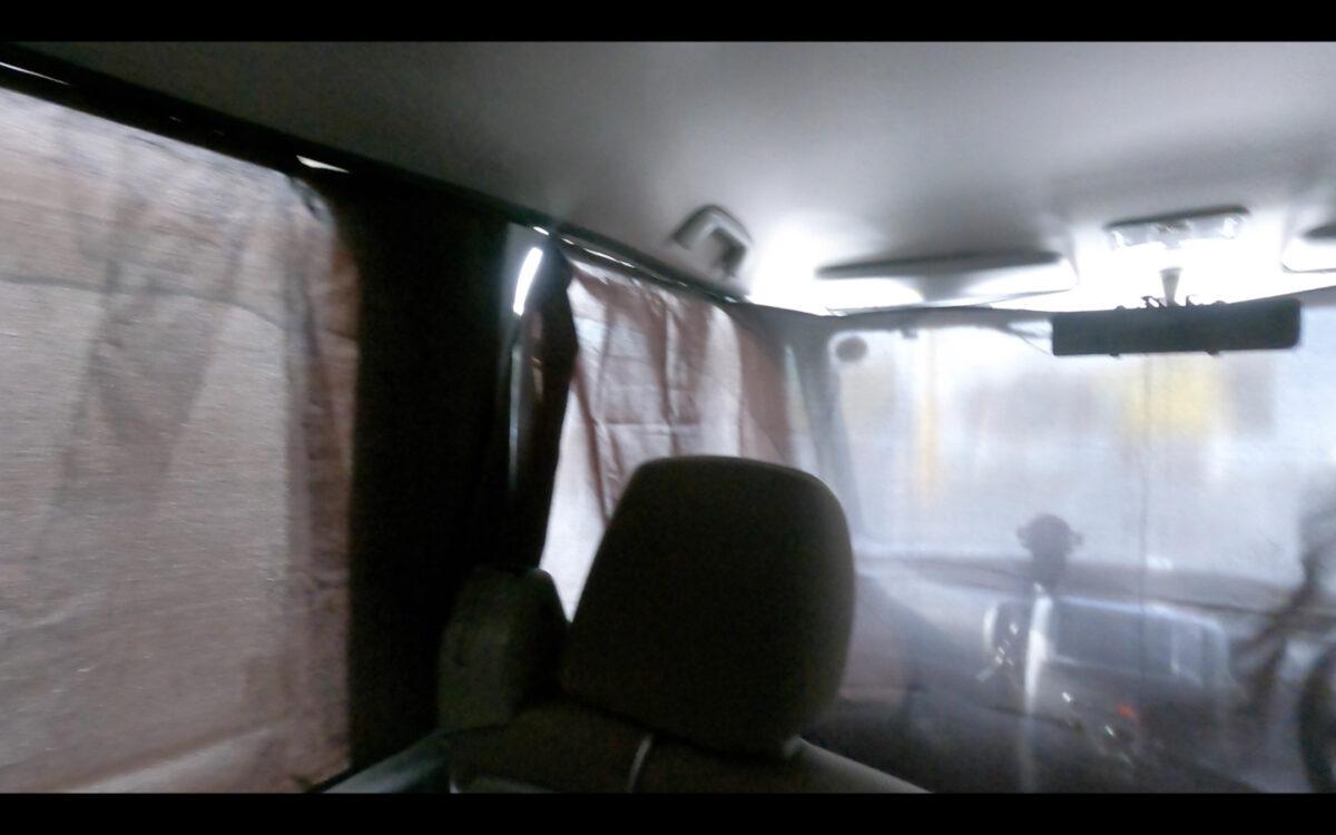 タント 目隠しカーテン 車内 左側前