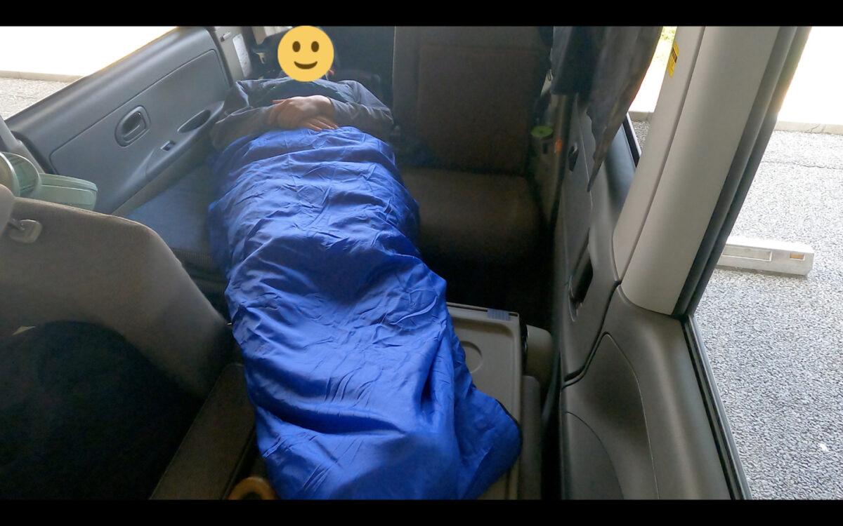 車中泊 マット 寝袋